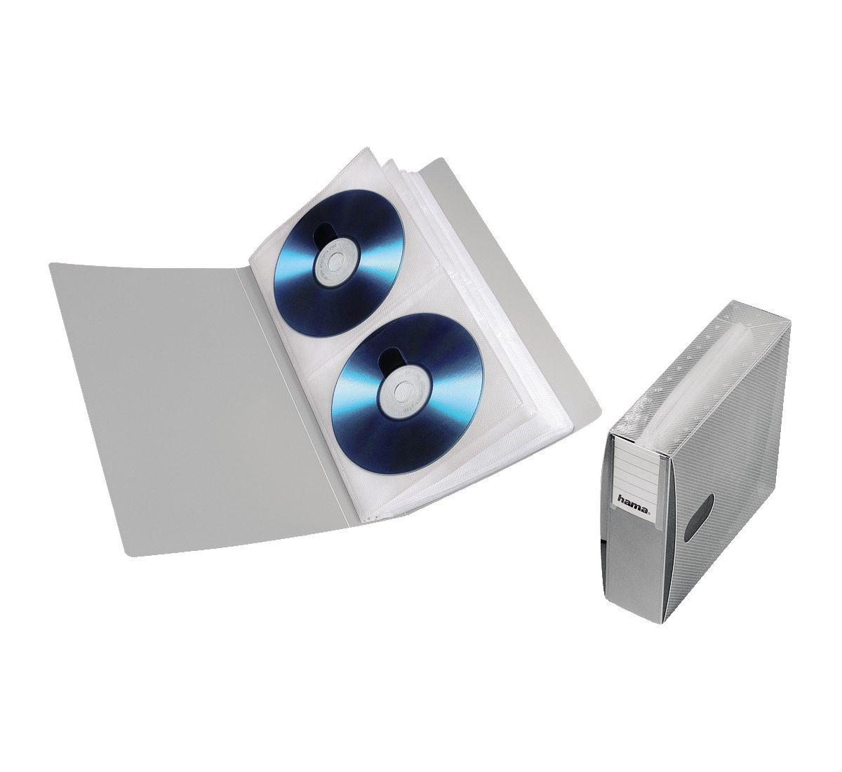 Hama CD-ROM/DVD-ROM File 48, Silber