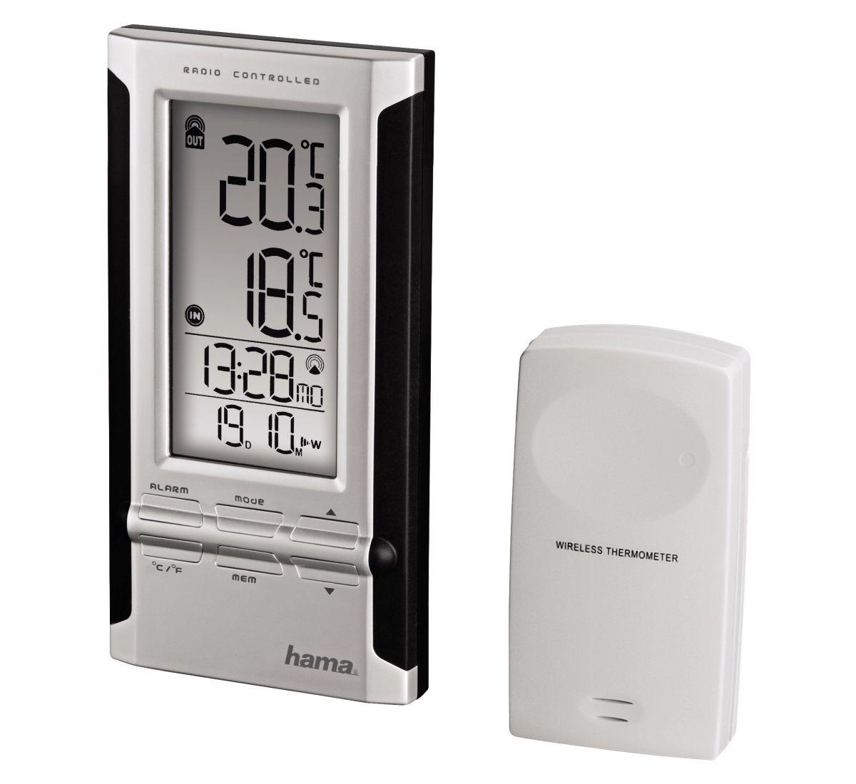 Hama Elektronische Wetterstation EWS-180, Schwa...