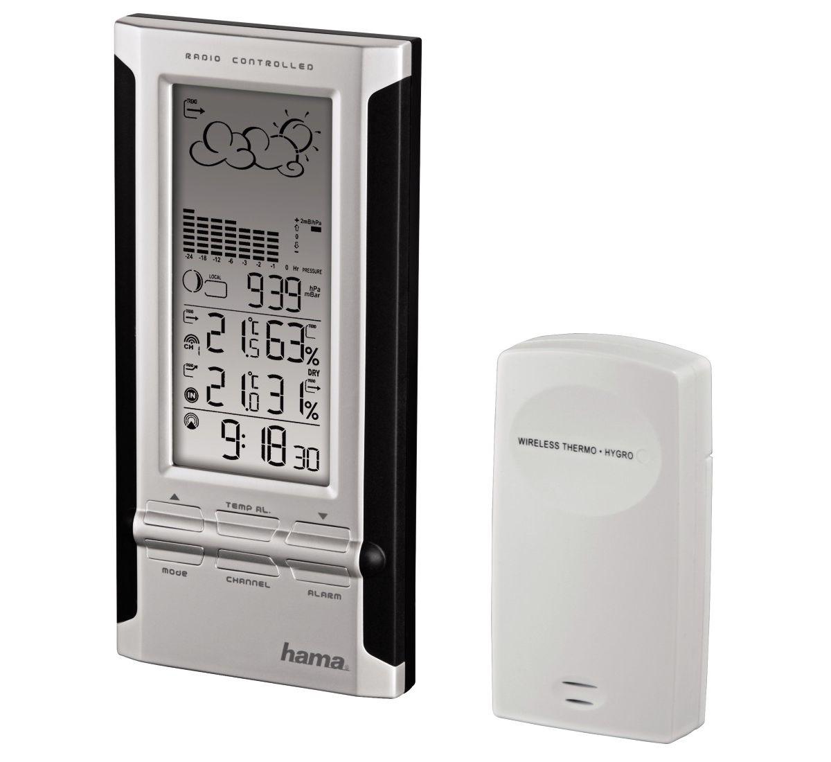 Hama Elektronische Wetterstation EWS-380, Schwa...
