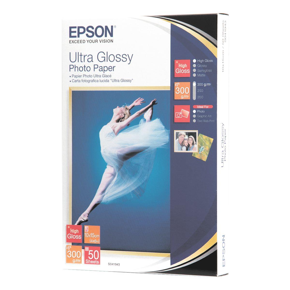 Epson Fotopapier �Ultra Glossy Photo Paper�, 50 Blatt