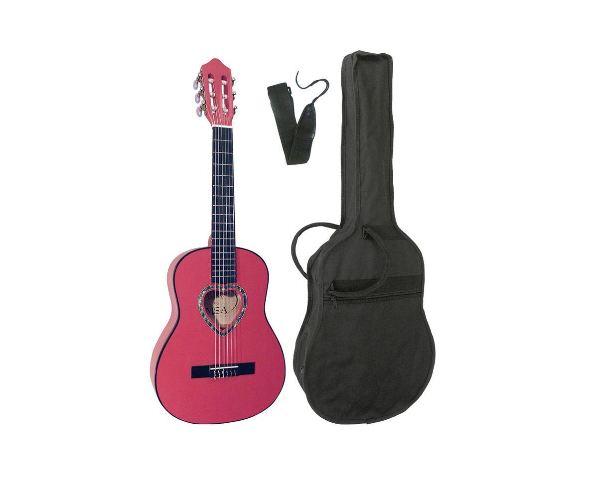 Kindergitarre, »Konzertgitarre ¼ mit herzförmig...