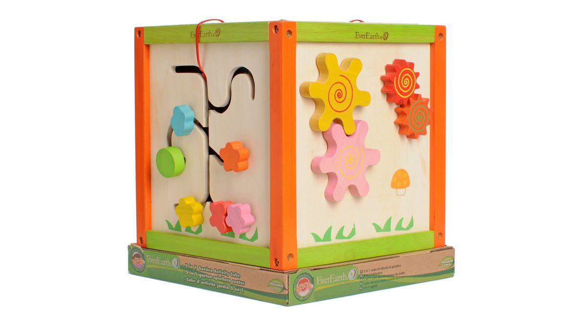 Spielcenter aus Holz, EverEarth®, 5-in-1 Garten-Spiel-Würfel Preisvergleich