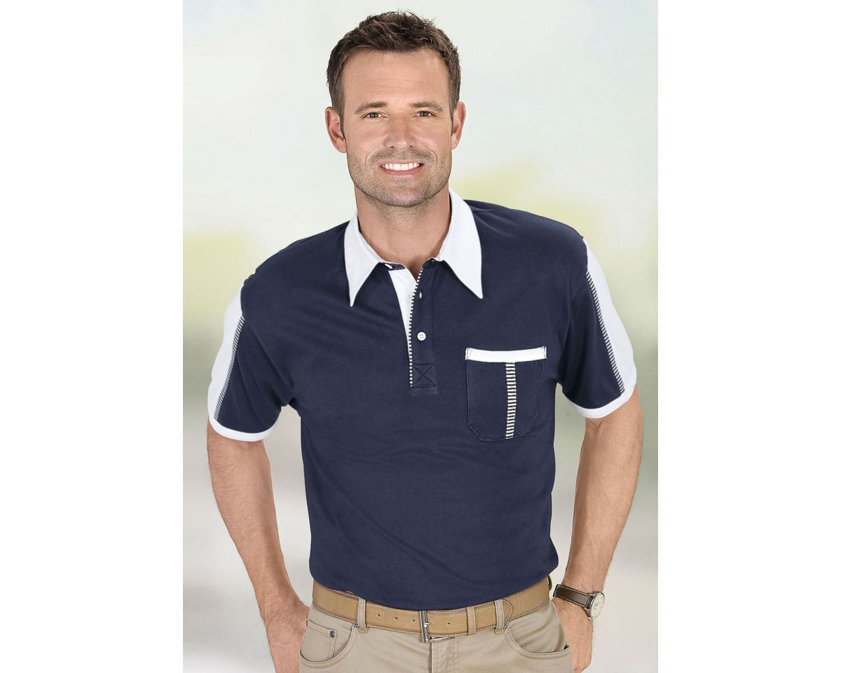Classic Poloshirt mit farblich abgesetzten Einsätzen