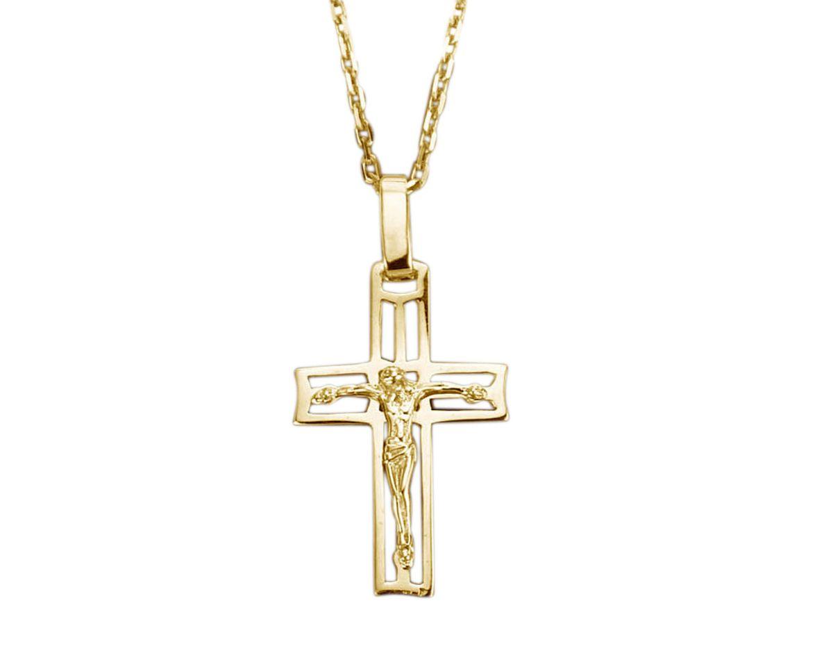 Halsschmuck: Anhänger ohne Kette »Kreuz« mit Ko...