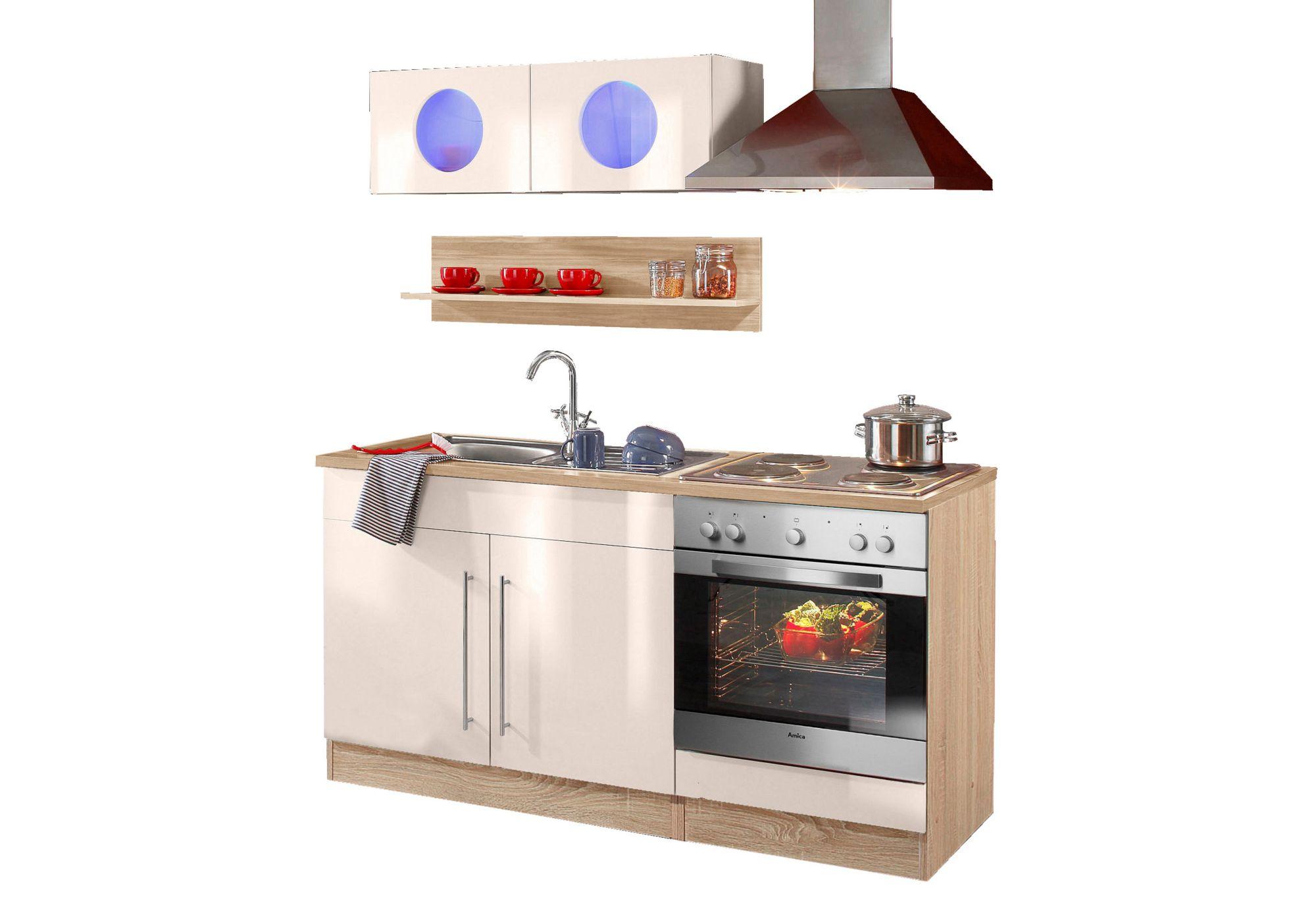 Kuchenzeile keitum held mobel mit elektrogeraten for Küchen wandregale