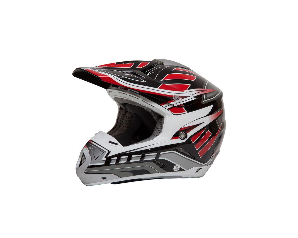 Vorschaubild von Motocross Helm, Saiko, für Moped, Roller und Motorradfahrer, rot, unisex