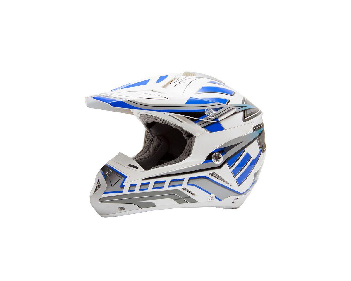Vorschaubild von Motocross Helm, Saiko, für Moped, Roller und Motorradfahrer, blau, unisex