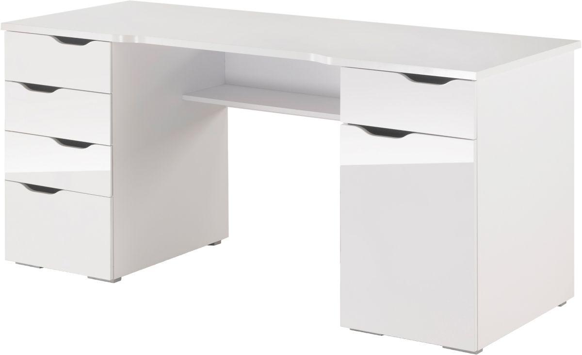 Schreibtisch, Maja Möbel,  Cuba , mit geschwungener Schreibtischplatte Preisvergleich