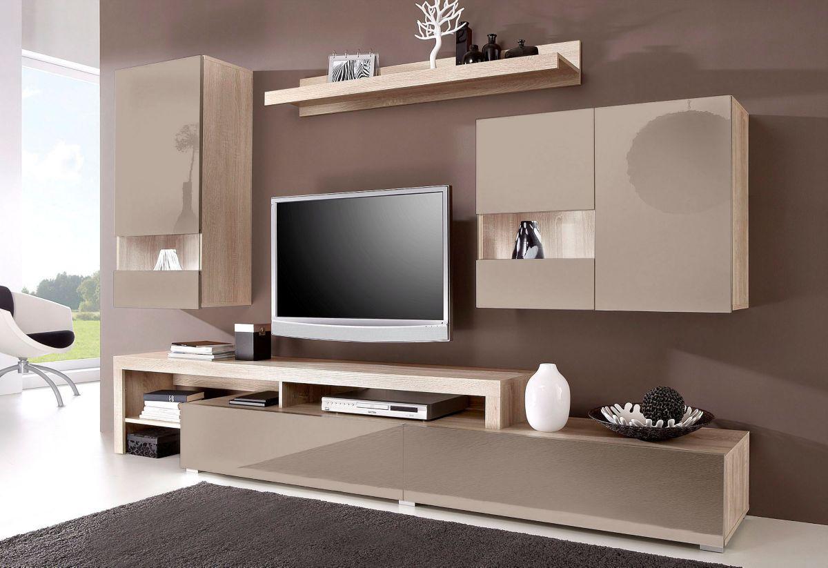 wohnwand hochglanz creme die neuesten innenarchitekturideen. Black Bedroom Furniture Sets. Home Design Ideas