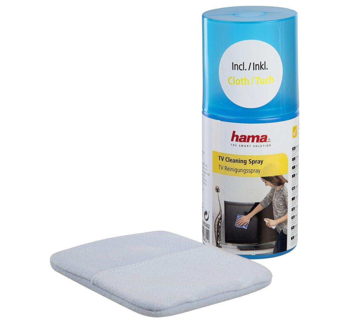 Hama TV-Reinigungsspray, 200 ml, mit Handschuh