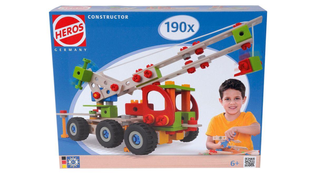 Heros Bauset aus Holz, 190-tlg.  Constructor Kranwagen  Preisvergleich