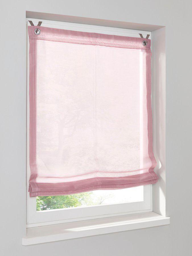 raffrollo home altrose l 130 cm neu ebay. Black Bedroom Furniture Sets. Home Design Ideas