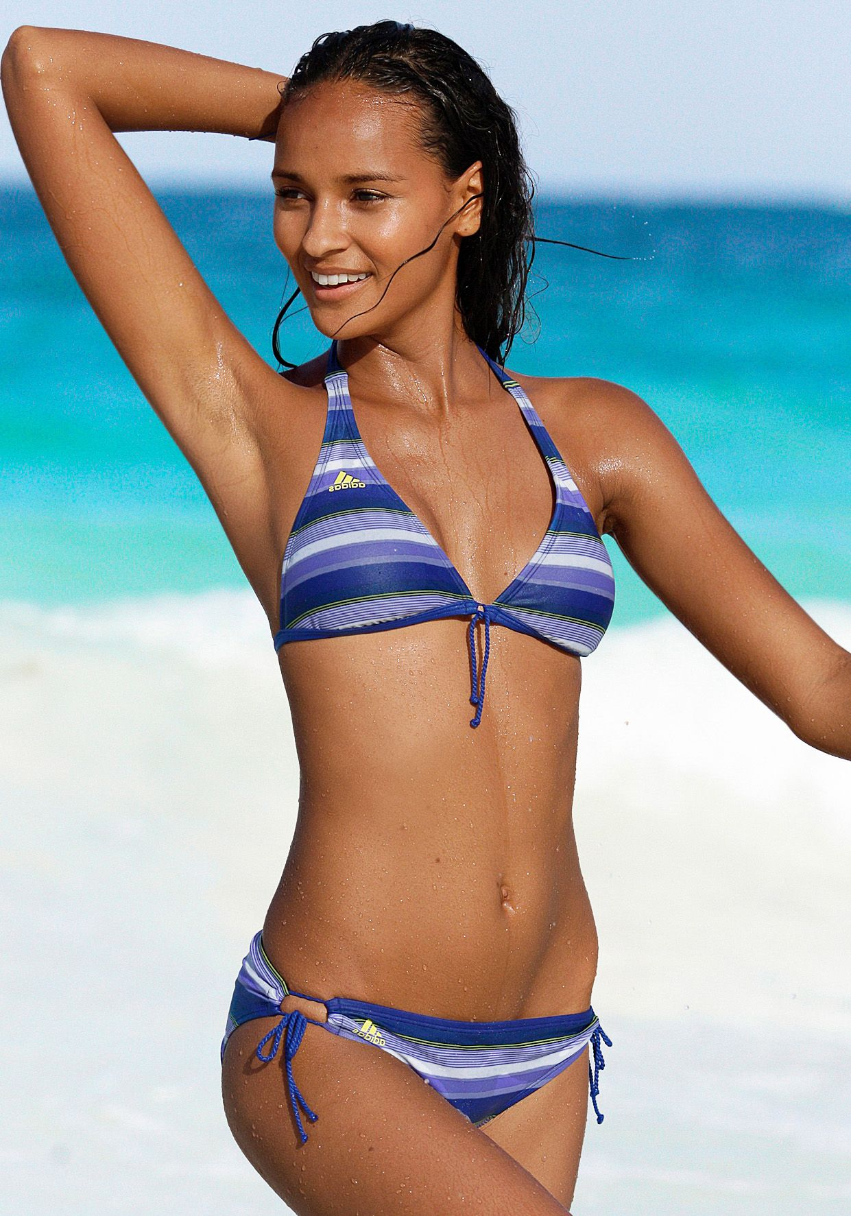 ADIDAS PERFORMANCE Triangel-Bikini, adidas Performance blau gestreift blau gestreift 34;36;38;40;42 blau
