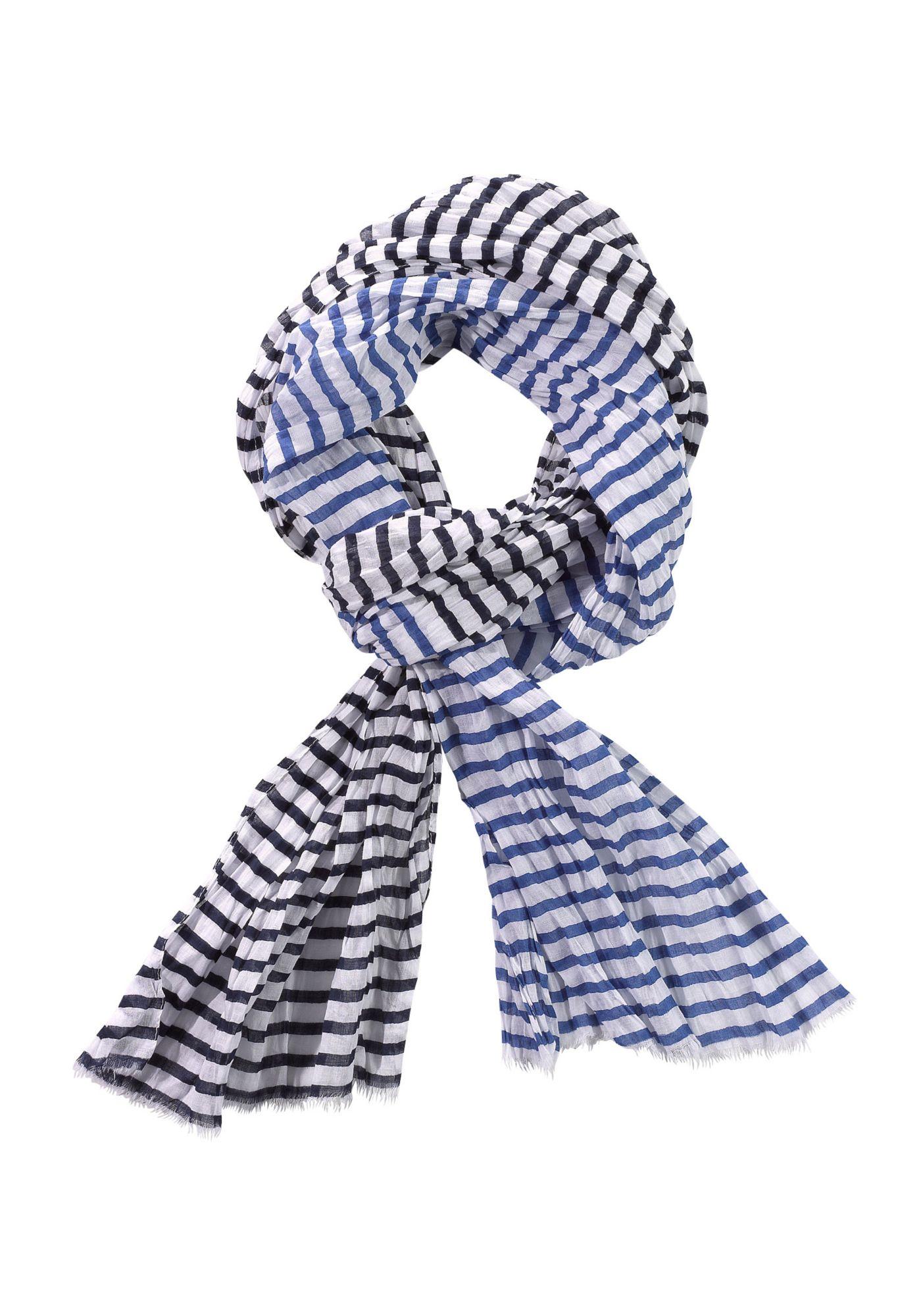 Schal blau gestreift blau gestreift blau