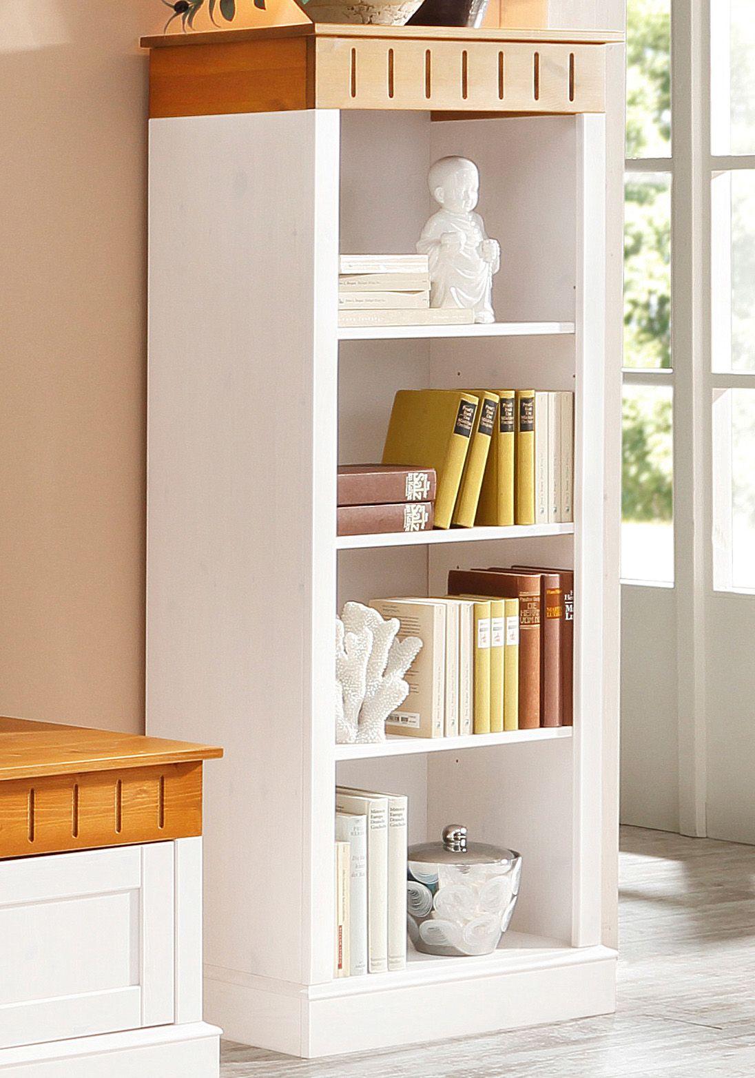 massivholz regal home affaire soeren h he 156 cm breite 80 cm pictures to pin on pinterest. Black Bedroom Furniture Sets. Home Design Ideas