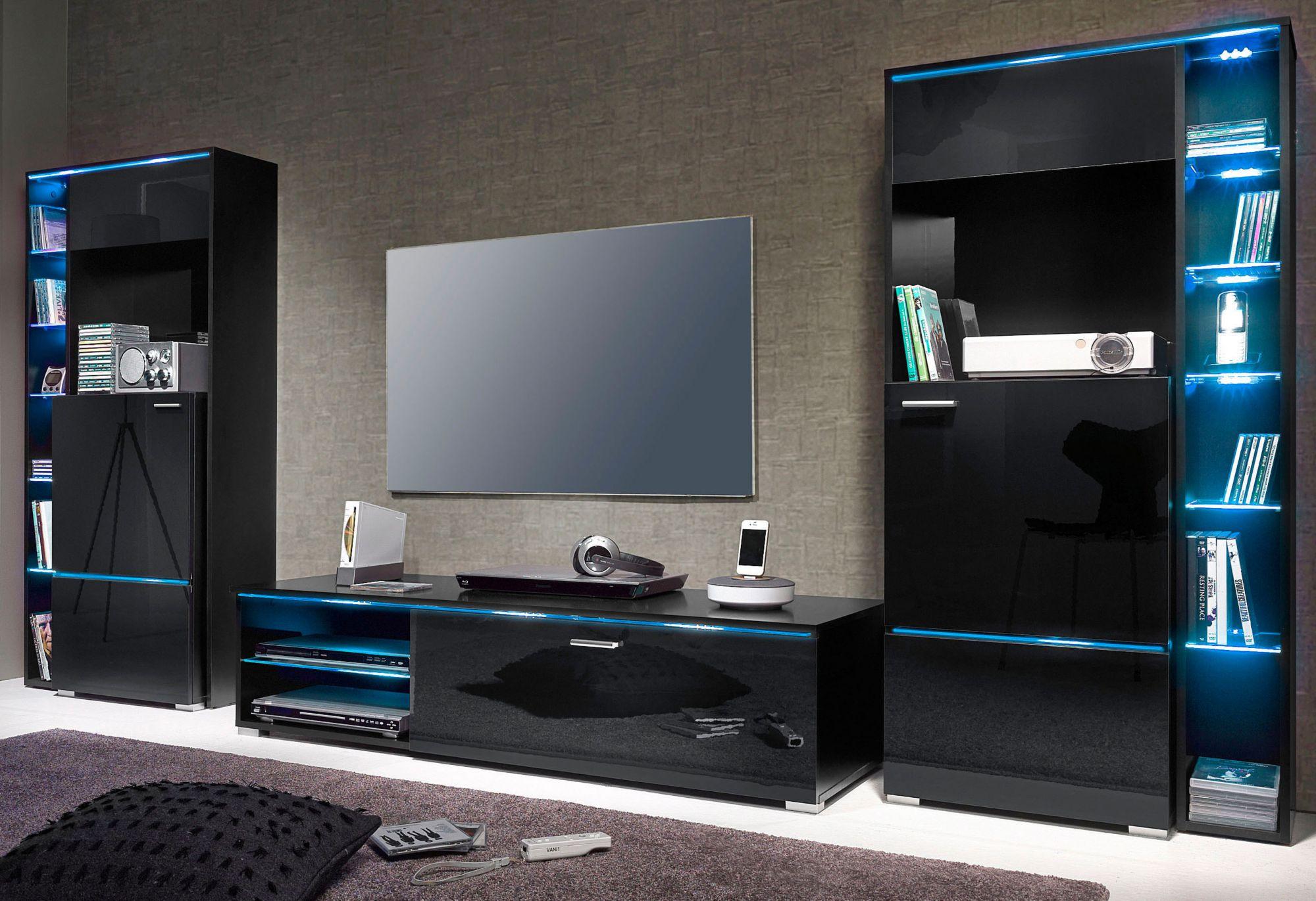 hochglanz wohnw nde im schwab online shop m bel wohnw nde. Black Bedroom Furniture Sets. Home Design Ideas