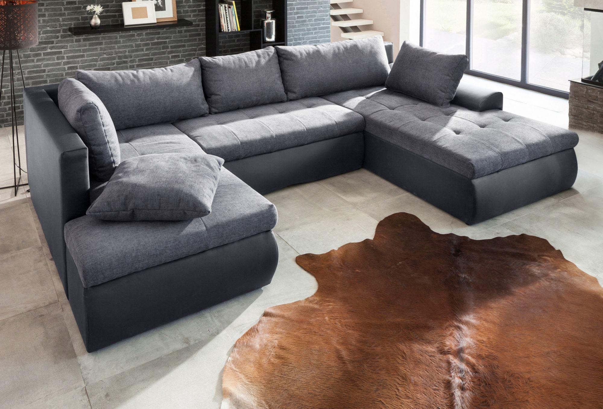 wohnlandschaft bettfunktion g nstig online kaufen beim schwab versand. Black Bedroom Furniture Sets. Home Design Ideas