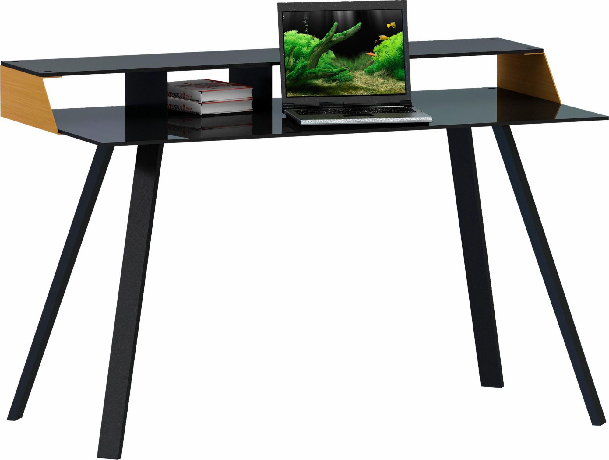 Schreibtisch dunkelbraun g nstig online kaufen beim schwab for Schreibtisch dunkelbraun