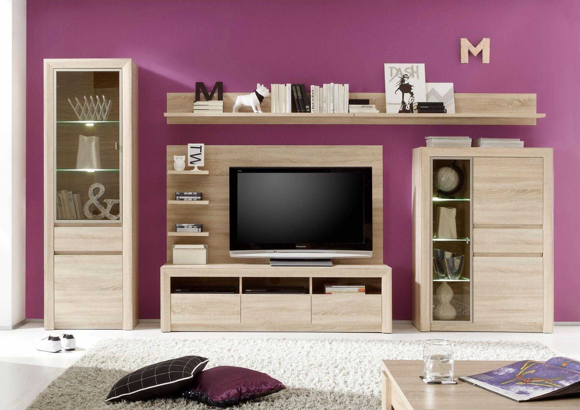 wohnwand g nstig online kaufen beim schwab versand. Black Bedroom Furniture Sets. Home Design Ideas