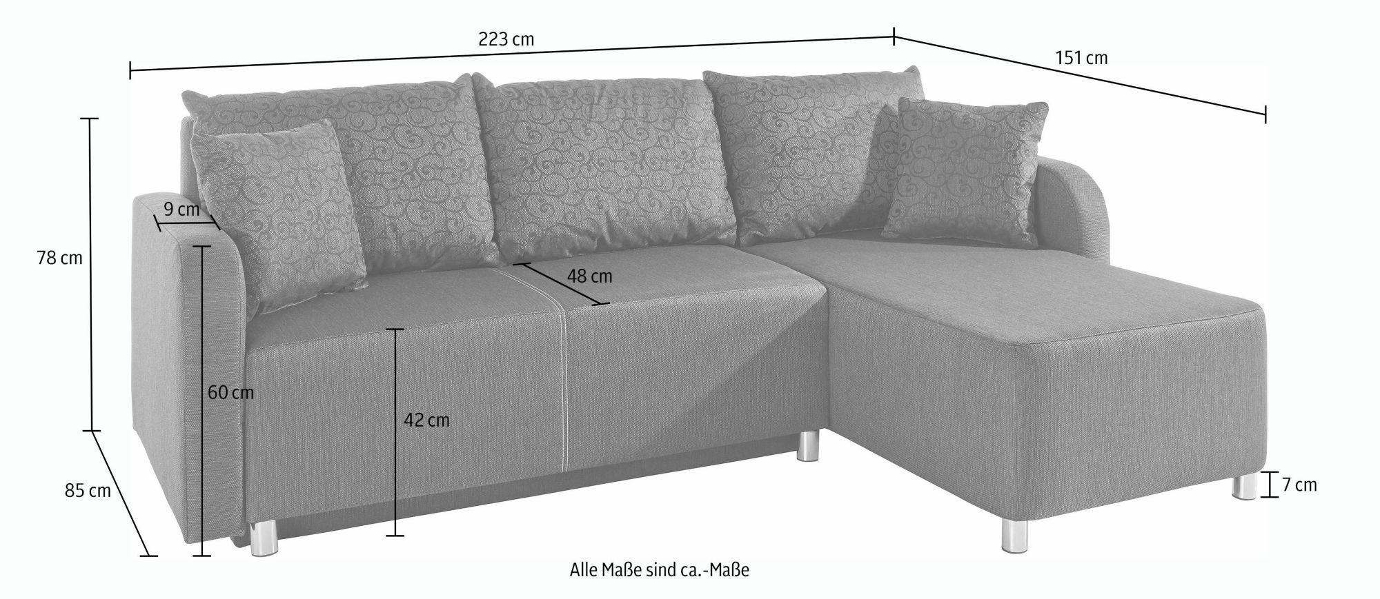 polsterecke bettfunktion g nstig online kaufen beim schwab. Black Bedroom Furniture Sets. Home Design Ideas