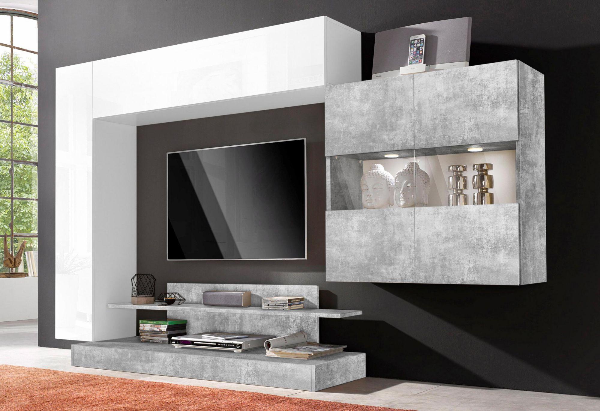 Wohnwand g nstig online kaufen beim schwab versand for Tv wohnwand modern