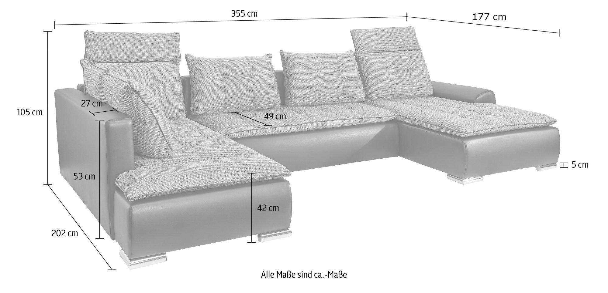 wohnlandschaft mit bettfunktion schwab versand wohnlandschaften. Black Bedroom Furniture Sets. Home Design Ideas