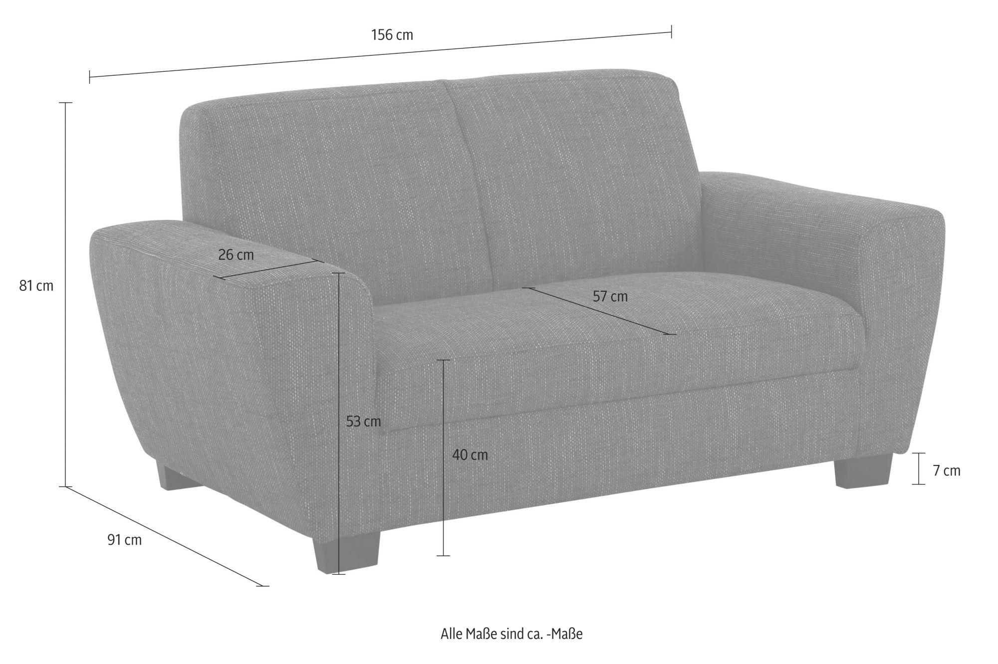 home affaire sofa ranger mit federkern schwab versand polsterm bel. Black Bedroom Furniture Sets. Home Design Ideas