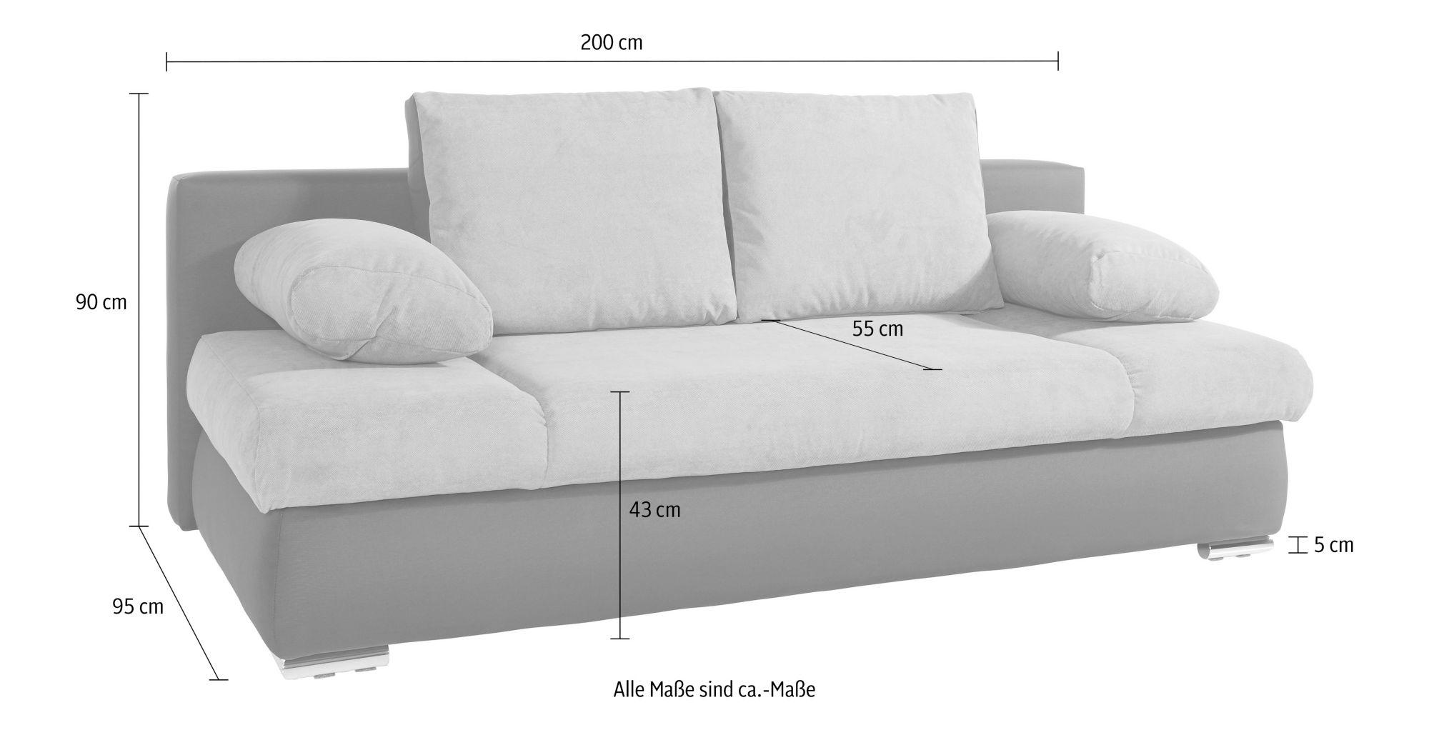 collection ab schlafsofa wahlweise mit federkern schwab. Black Bedroom Furniture Sets. Home Design Ideas