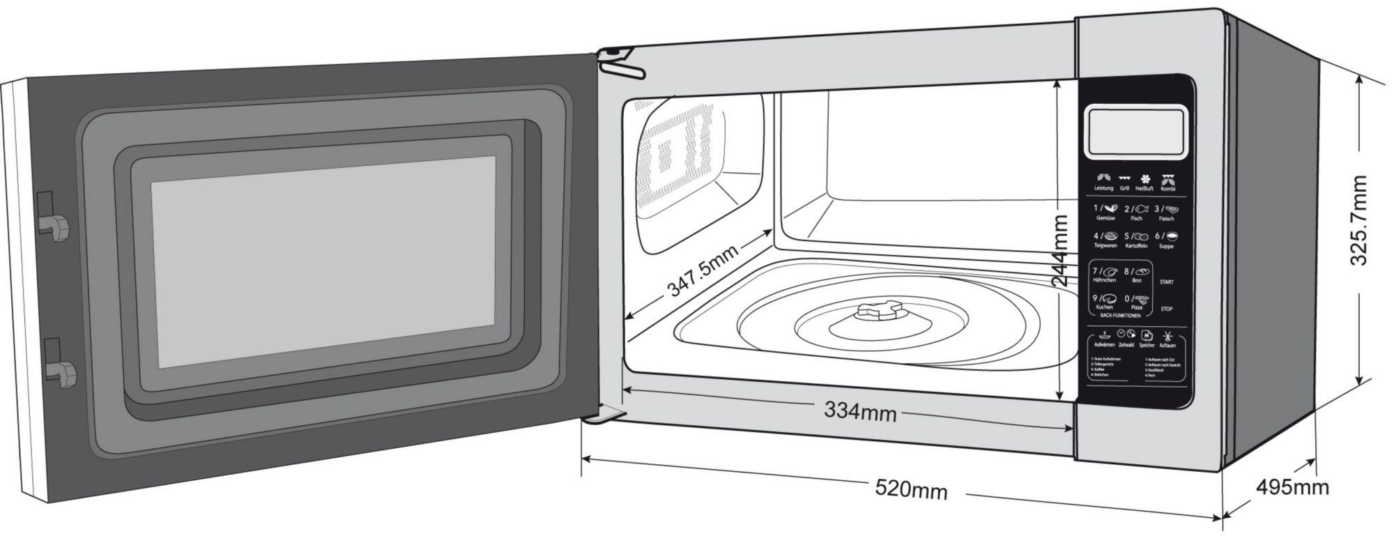 privileg mikrowelle mit grill und umluft pizzafunktion. Black Bedroom Furniture Sets. Home Design Ideas