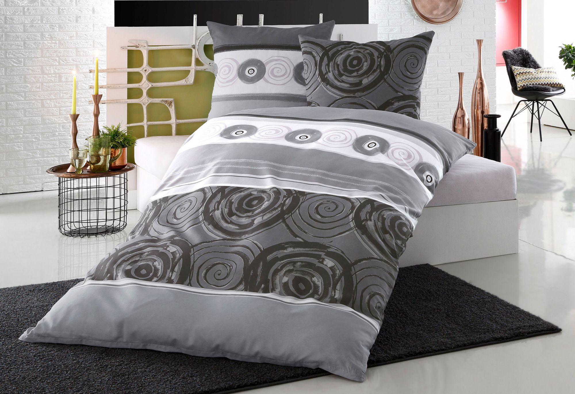 bettw sche auro hometextiles tyler mit kreisf rmigen. Black Bedroom Furniture Sets. Home Design Ideas