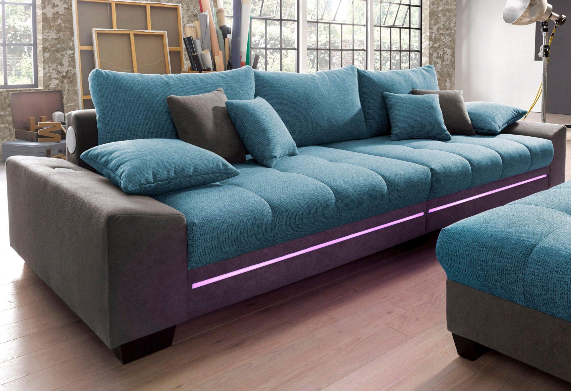 Big sofa mit beleuchtung wahlweise mit bluetooth soundsystem schwab versand sofas couches Sofa primabelle