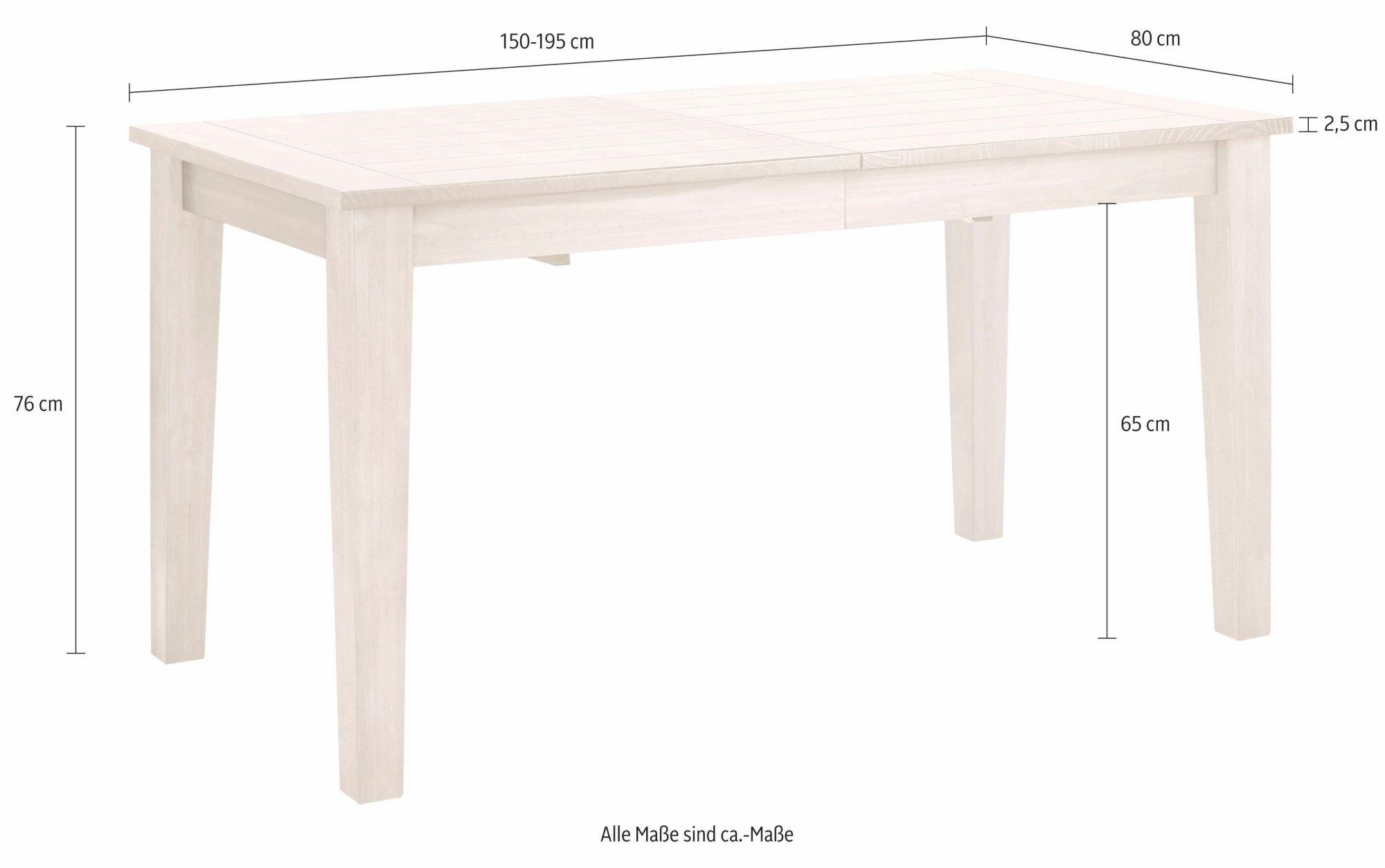 home affaire esstisch america in 2 gr en schwab. Black Bedroom Furniture Sets. Home Design Ideas