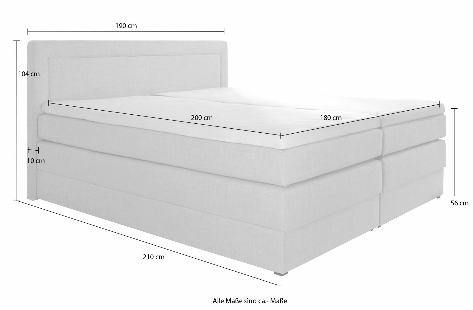 hapo boxspringbett mit bettkasten schwab versand betten. Black Bedroom Furniture Sets. Home Design Ideas