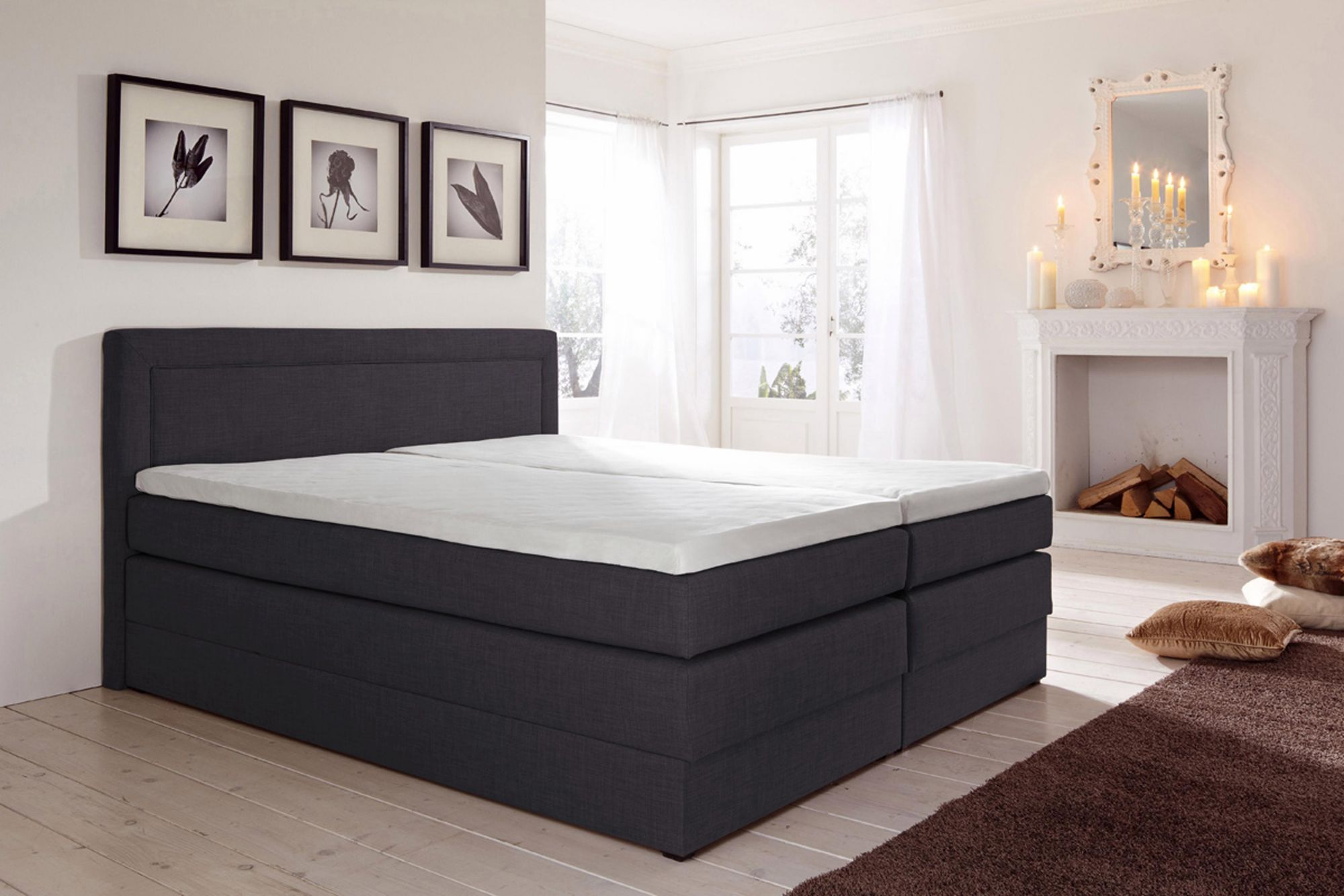 hapo boxspringbett mit bettkasten schwab versand betten. Black Bedroom Furniture Sets. Home Design Ideas