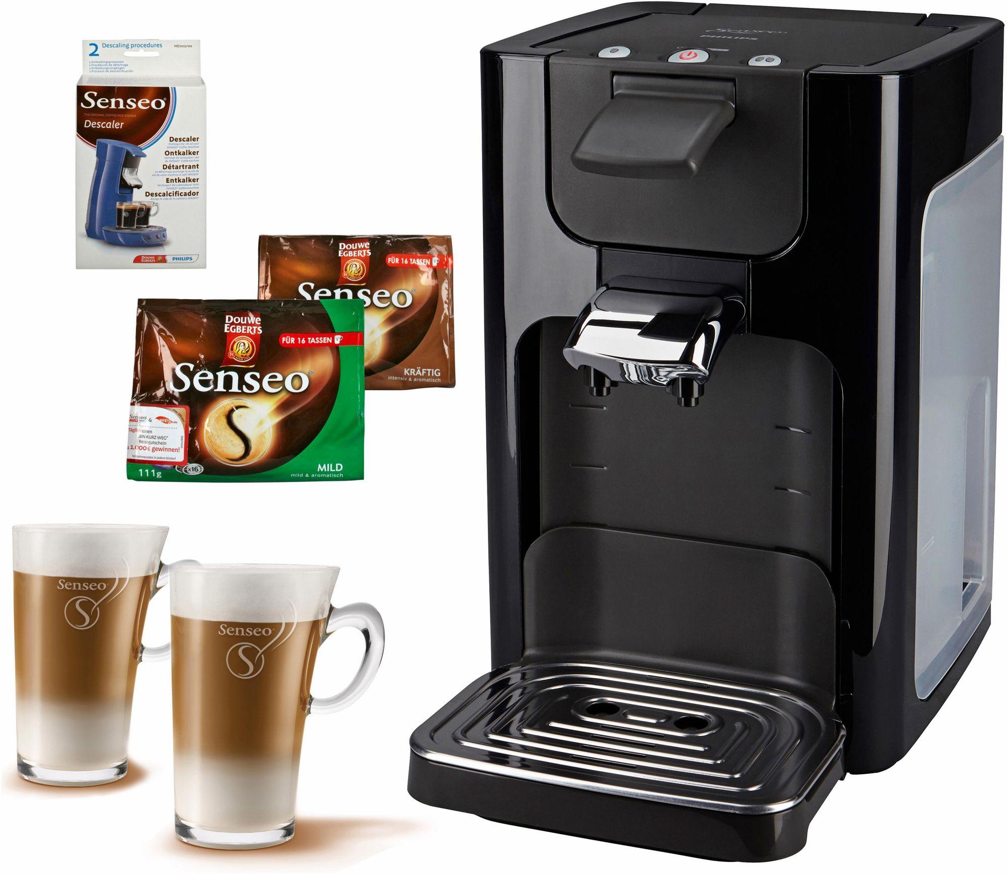 philips senseo kaffeepadmaschine hd7863 quadrante inkl. Black Bedroom Furniture Sets. Home Design Ideas