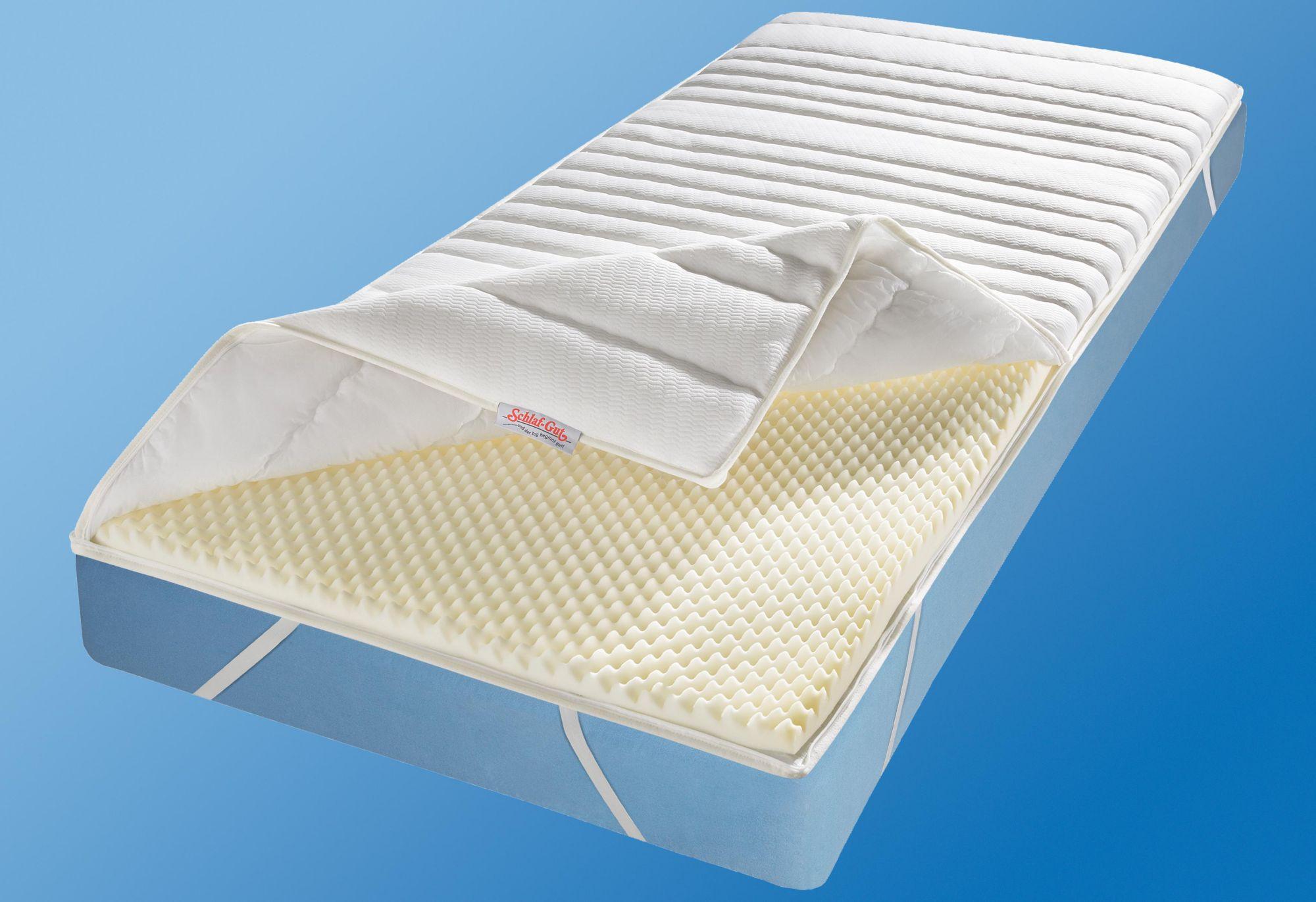 komfortschaum topper schlaf gut komfort ts 1 loch faser. Black Bedroom Furniture Sets. Home Design Ideas