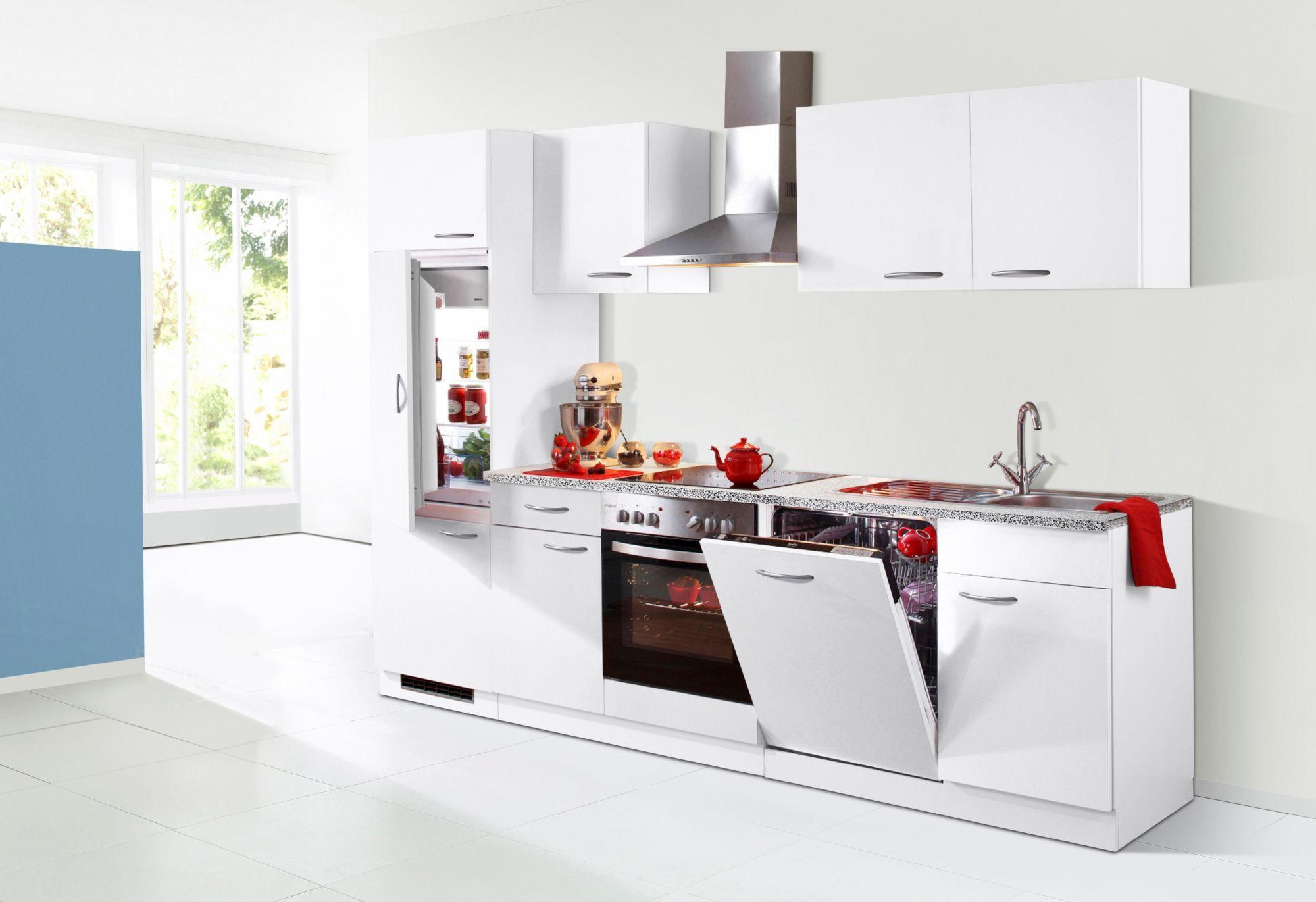 k chenzeile kiel breite 280 cm schwab versand k chenunterschr nke. Black Bedroom Furniture Sets. Home Design Ideas