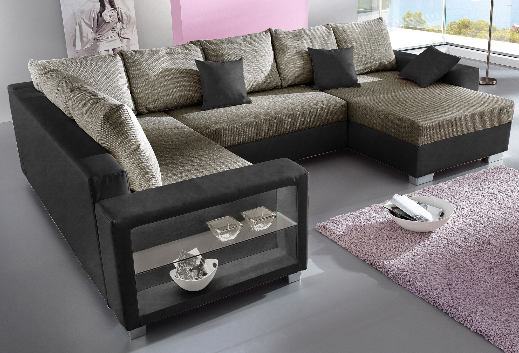 Wohnlandschaft wahlweise mit beleuchtung und bettfunktion schwab versand sofas couches Sofa primabelle