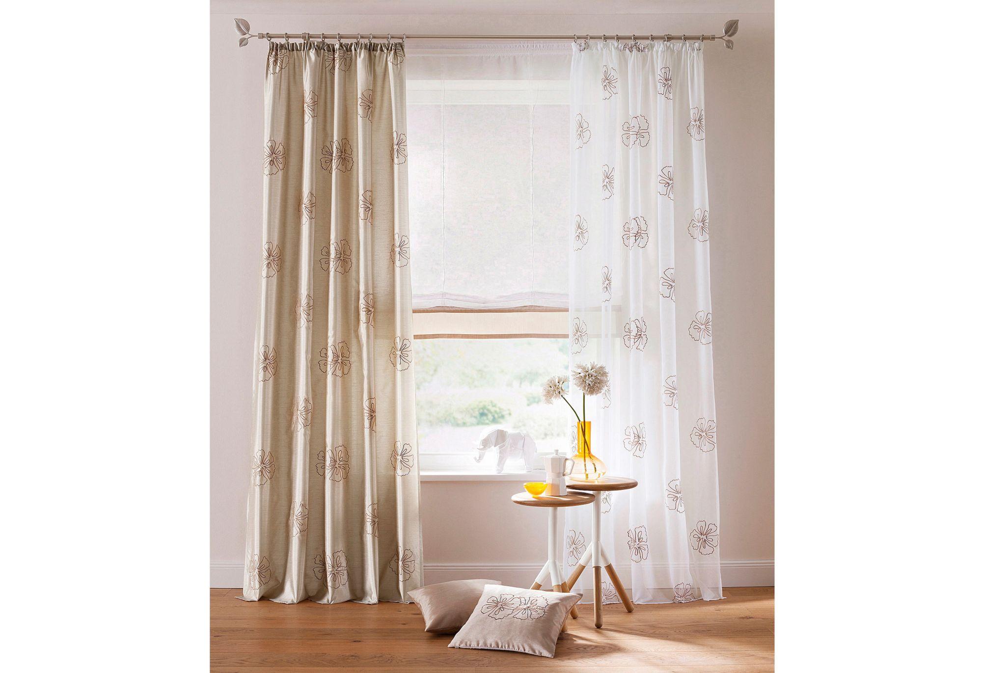 vorhang my home malta 2 st ck schwab versand halbtransparente gardinen. Black Bedroom Furniture Sets. Home Design Ideas