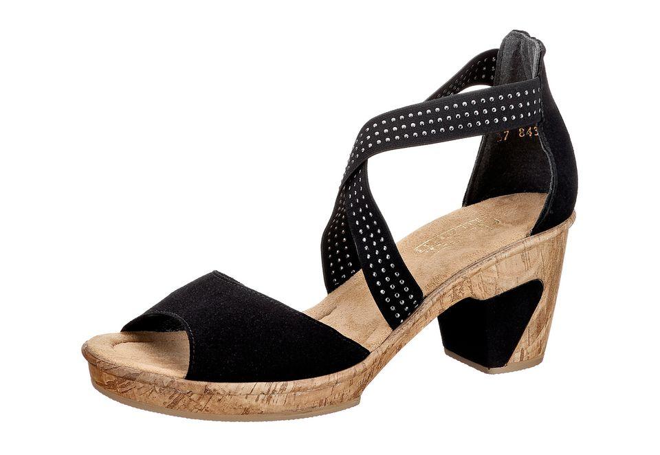 rieker sandalette mit gummizug und 65mm absatz schwab. Black Bedroom Furniture Sets. Home Design Ideas