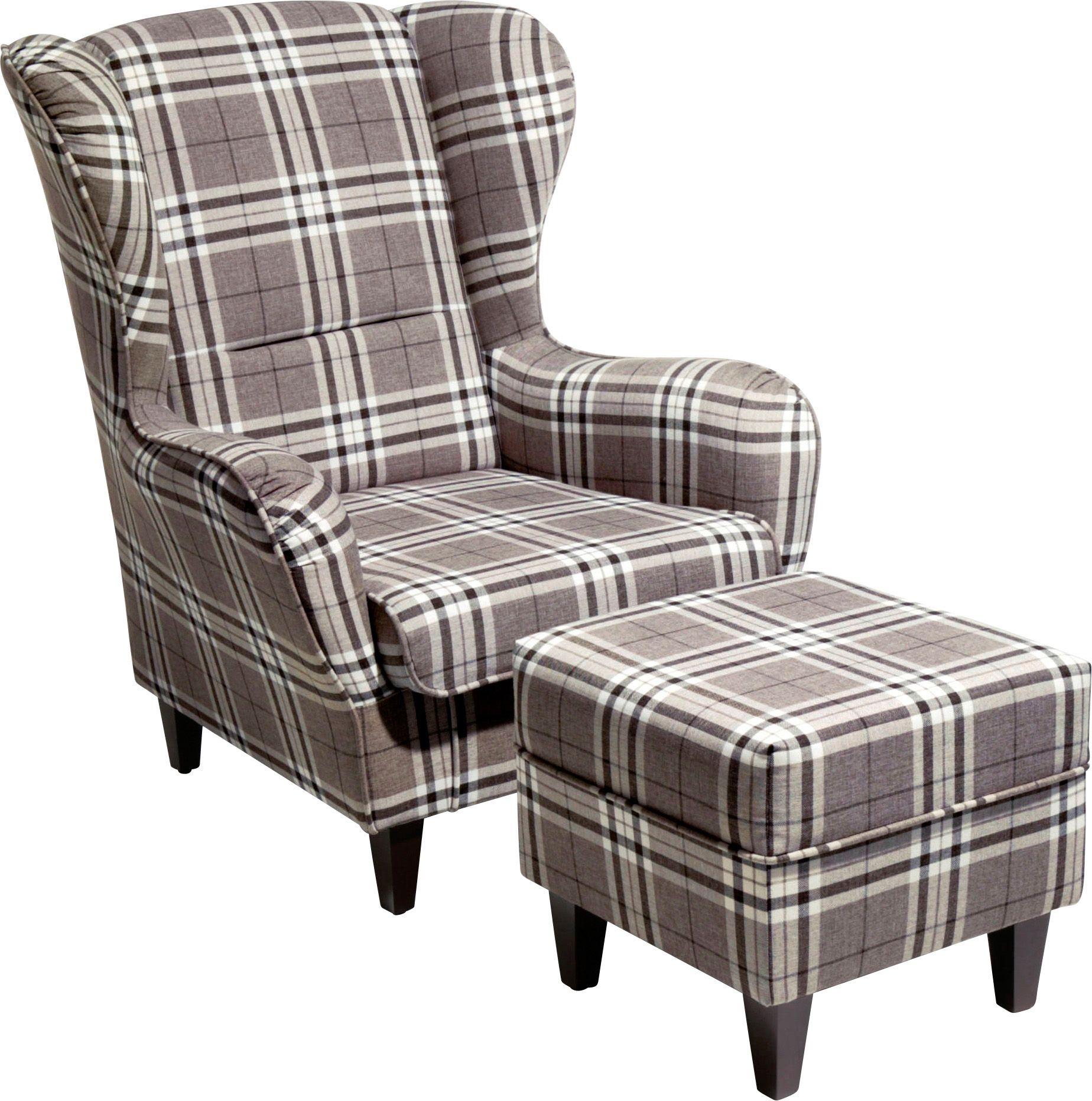 home affaire ohrensessel mit hocker nicola schwab versand einzelsessel. Black Bedroom Furniture Sets. Home Design Ideas