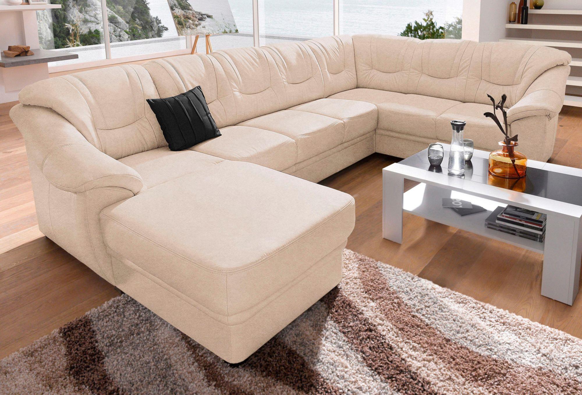 wohnlandschaft sit more wahlweise mit bettfunktion schwab versand leder wohnlandschaft. Black Bedroom Furniture Sets. Home Design Ideas