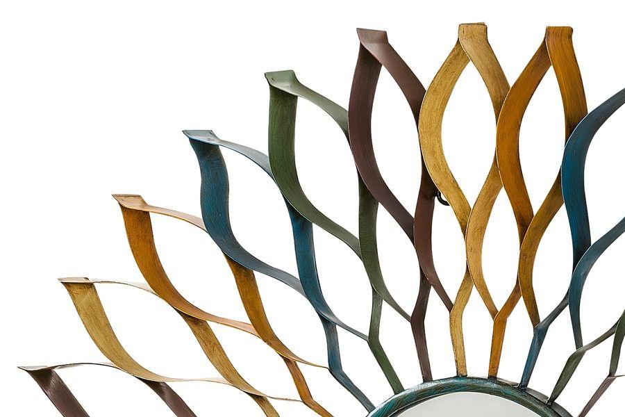wanddeko spiegel dekospiegel metalldeko spiegeldeko heine bunt 0715 4136 ebay. Black Bedroom Furniture Sets. Home Design Ideas