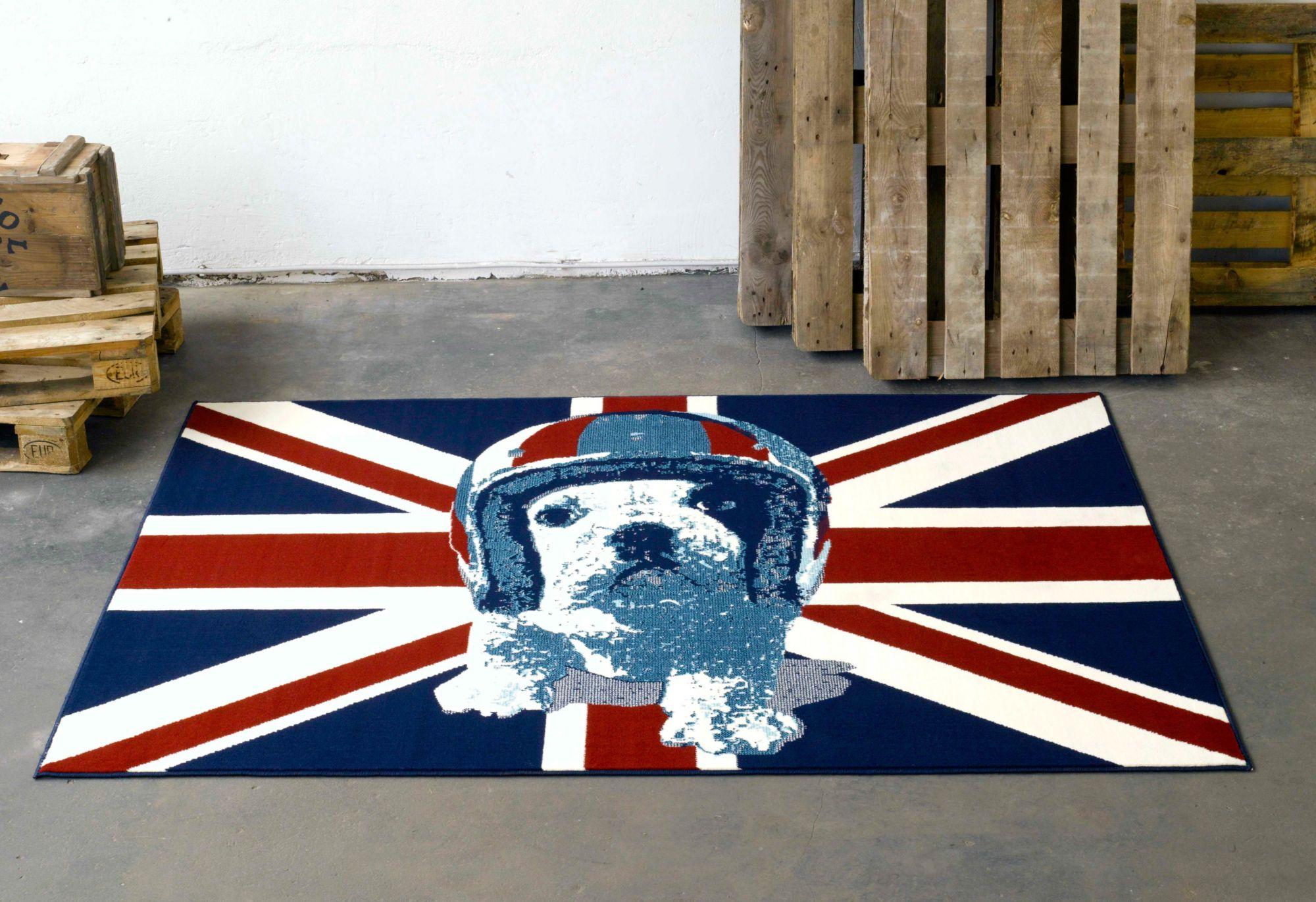 DesignTeppich, Hanse Home, »Union Jack Hund«, modern