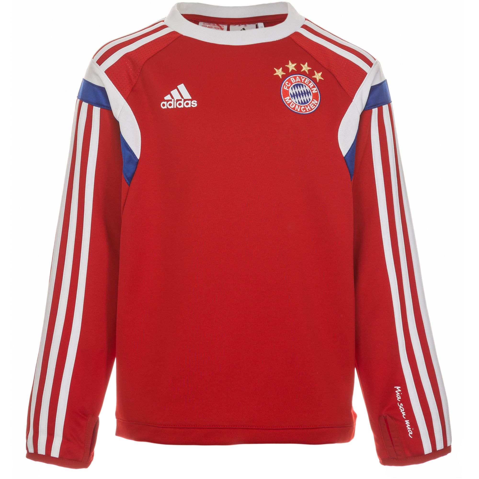 adidas performance fc bayern m nchen trainingssweat kinder. Black Bedroom Furniture Sets. Home Design Ideas