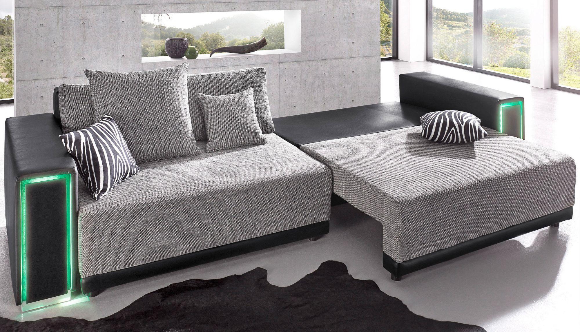 Big Sofa Led Beleuchtung : big sofa inklusive rgb led beleuchtung schwab versand sofas couches ~ Bigdaddyawards.com Haus und Dekorationen