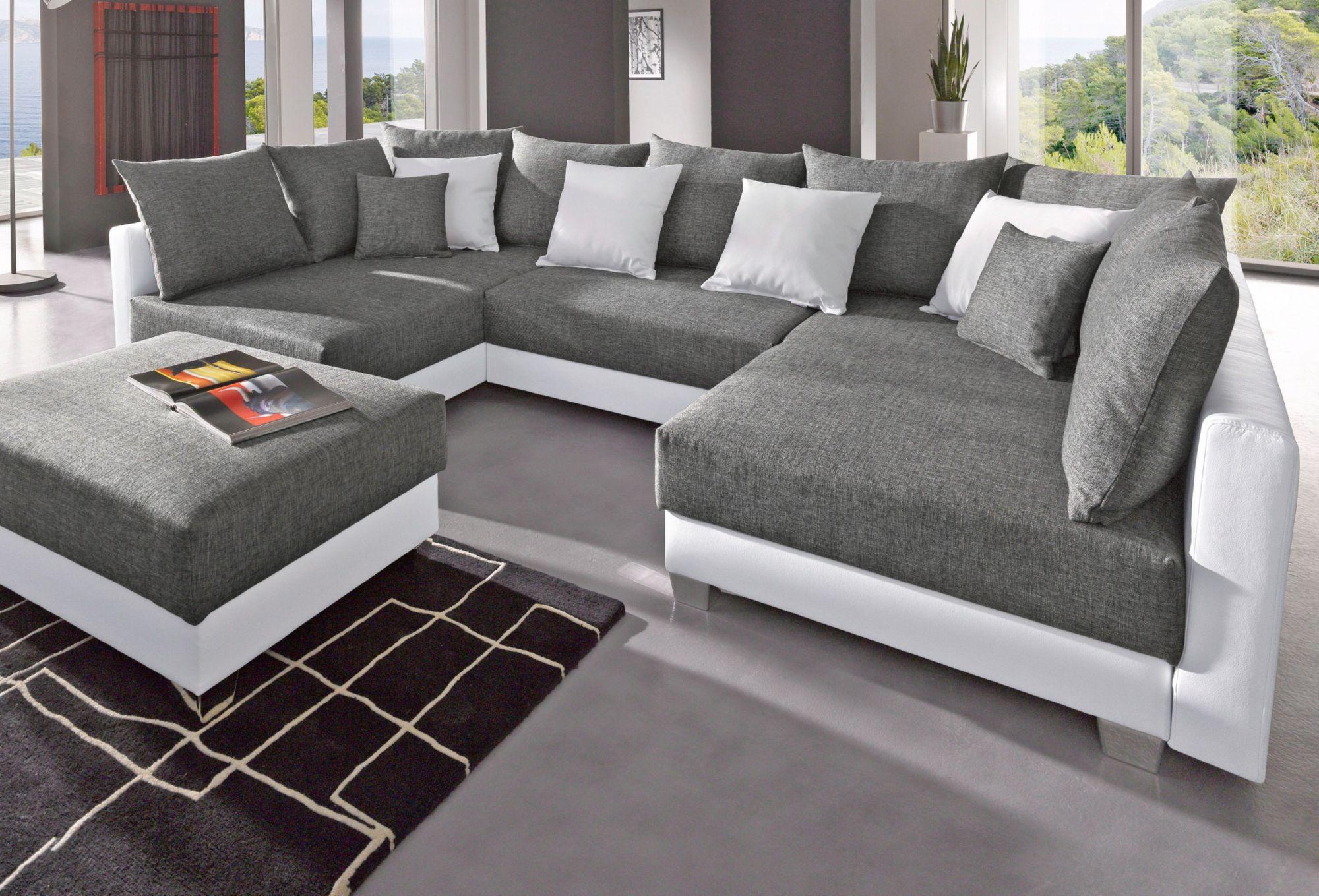 collection ab wohnlandschaft inklusive hocker schwab versand xxl wohnlandschaften. Black Bedroom Furniture Sets. Home Design Ideas