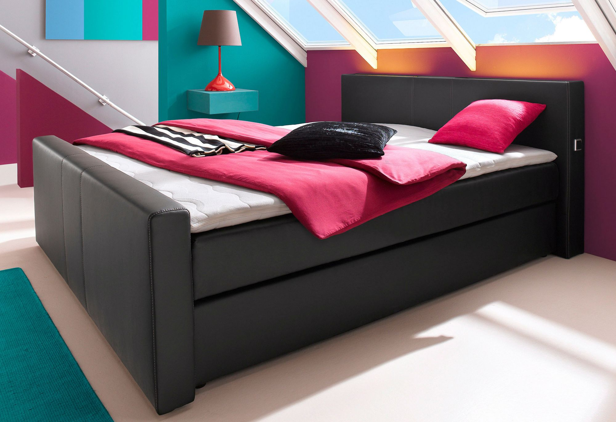 inosign boxspring bett kopfteilh he 90 5 cm schwab versand boxspringbetten ohne bettkasten. Black Bedroom Furniture Sets. Home Design Ideas