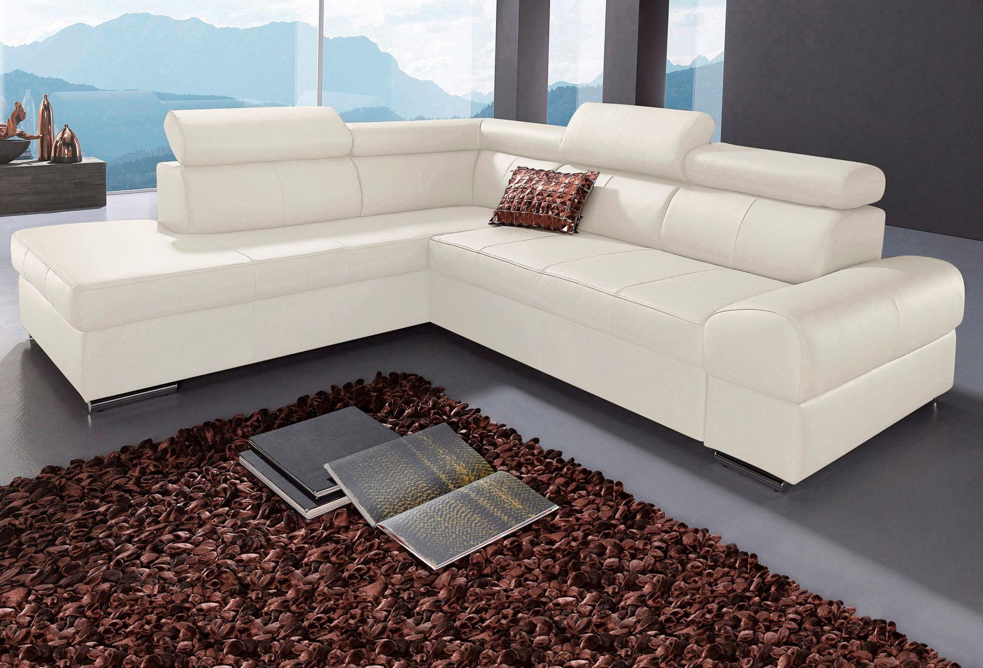 polsterecke sit more wahlweise mit bettfunktion schwab versand ecksofas. Black Bedroom Furniture Sets. Home Design Ideas