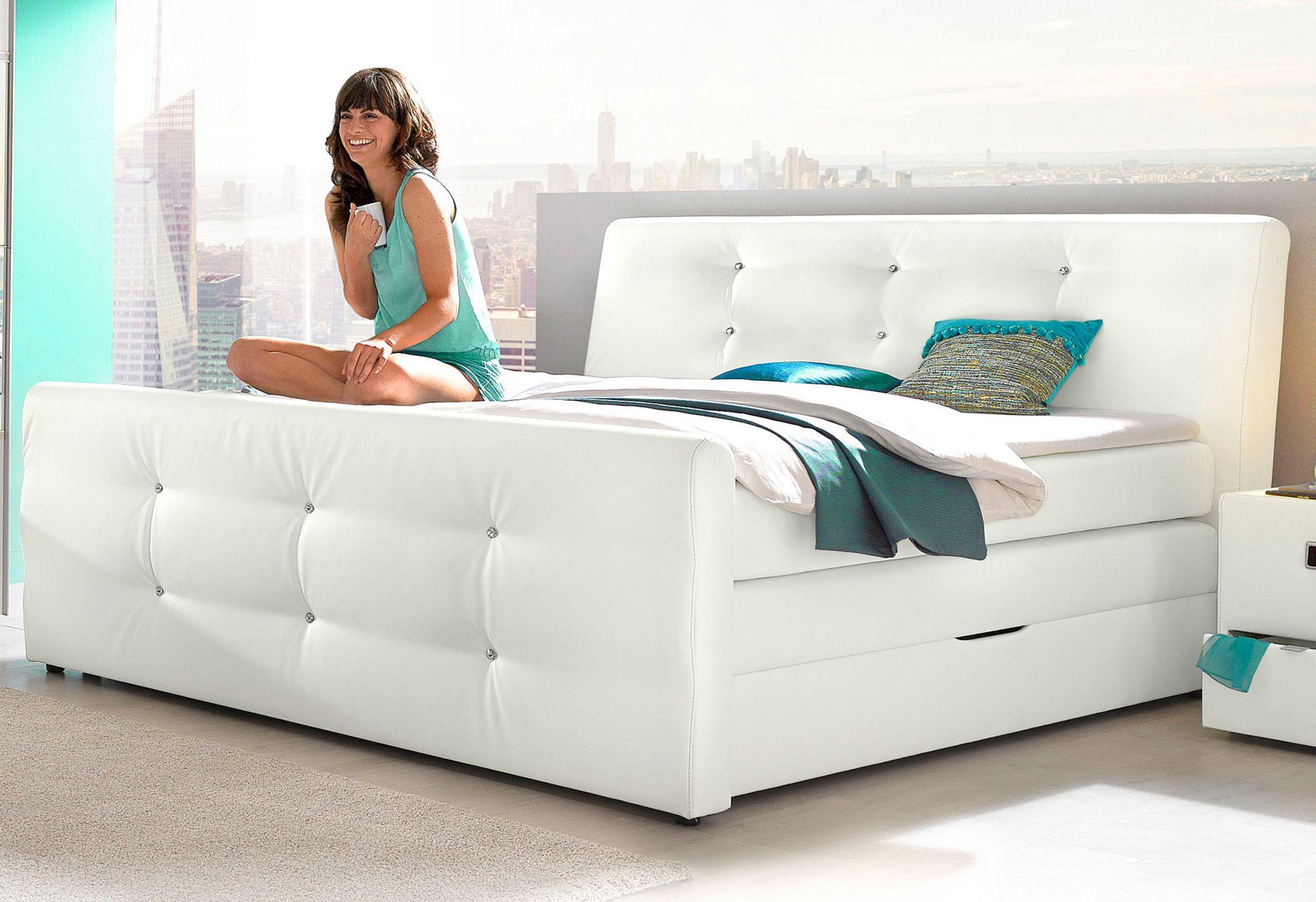 ikea boxspring bett rviksand boxspringbett 160x200 cm. Black Bedroom Furniture Sets. Home Design Ideas